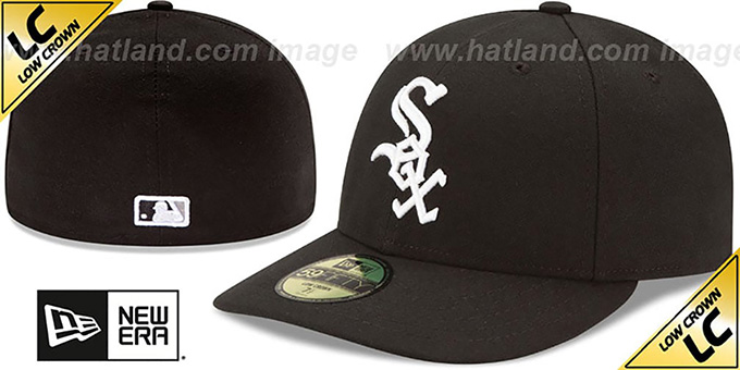White Sox 'LOW-CROWN' GAME Fitted Hat by New Era : pictured without stickers that these products are shipped with