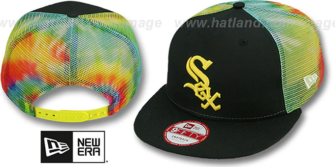 White Sox 'MESH TYE-DYE SNAPBACK' Hat by New Era : pictured without stickers that these products are shipped with