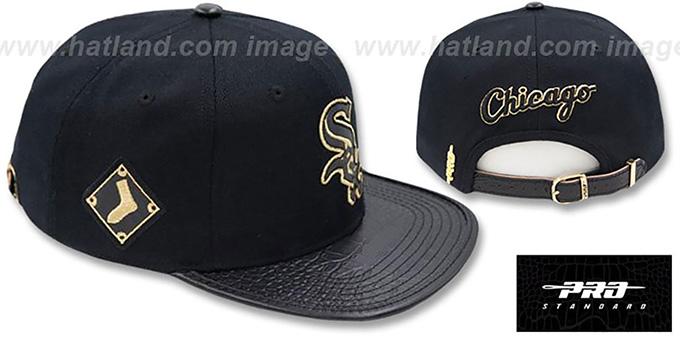 White Sox  METALLIC POP STRAPBACK  Black Hat by Pro Standard a2bccc98fb5