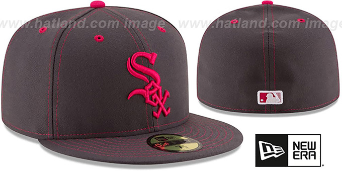 White Sox 'MOTHERS DAY' Fitted Hat by New Era : pictured without stickers that these products are shipped with