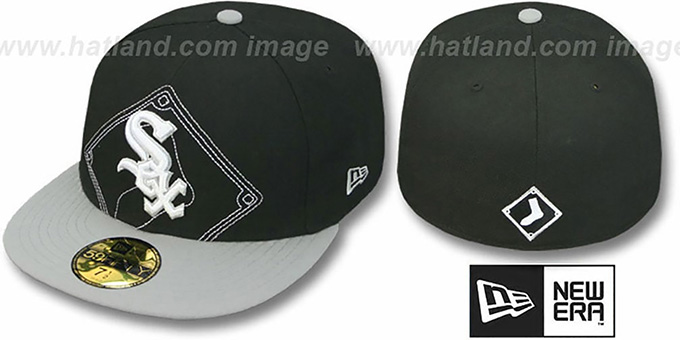 White Sox 'NEW MIXIN' Black-Grey Fitted Hat by New Era : pictured without stickers that these products are shipped with