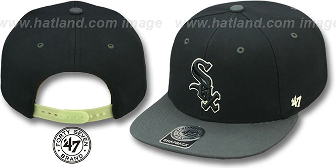 White Sox 'NIGHT-MOVE SNAPBACK' Adjustable Hat by Twins 47 Brand