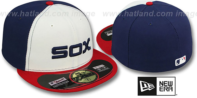 White Sox 'PERFORMANCE ALT 2' Hat by New Era : pictured without stickers that these products are shipped with