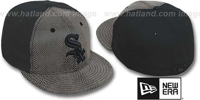 White Sox 'RATTLESNAKE' Fitted Hat by New Era : pictured without stickers that these products are shipped with