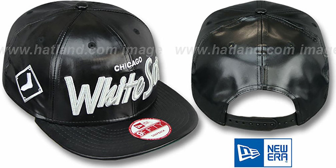 White Sox 'REDUX SNAPBACK' Black Hat by New Era : pictured without stickers that these products are shipped with