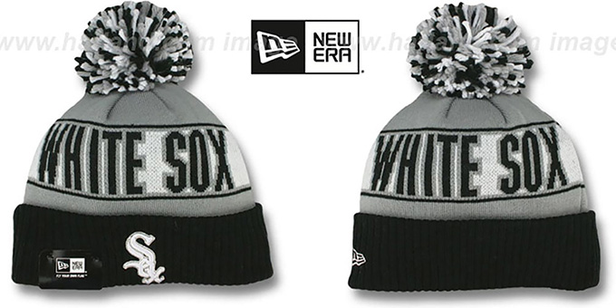 White Sox 'REP-UR-TEAM' Knit Beanie Hat by New Era : pictured without stickers that these products are shipped with