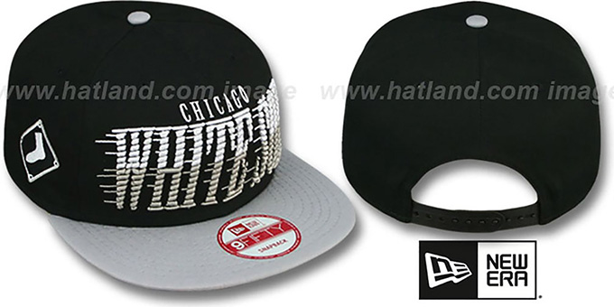 White Sox 'SAILTIP SNAPBACK' Black-Grey Hat by New Era : pictured without stickers that these products are shipped with