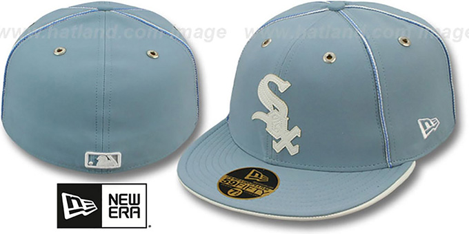 White Sox 'SKY BLUE DaBu' Fitted Hat by New Era : pictured without stickers that these products are shipped with