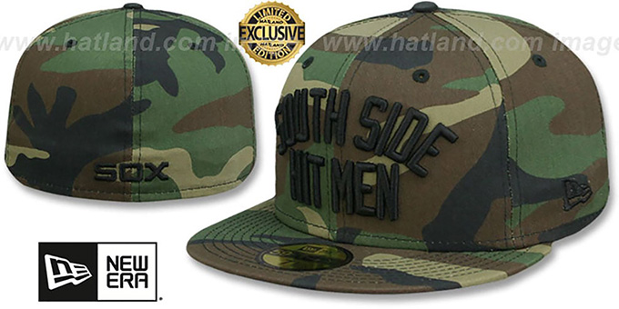 White Sox 'SOUTH SIDE HITMEN' Army Camo Fitted Hat by New Era