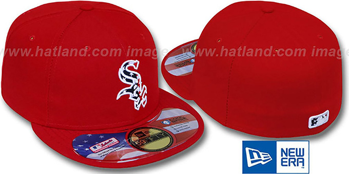 White Sox 'STARS N STRIPES' Red Hat by New Era : pictured without stickers that these products are shipped with