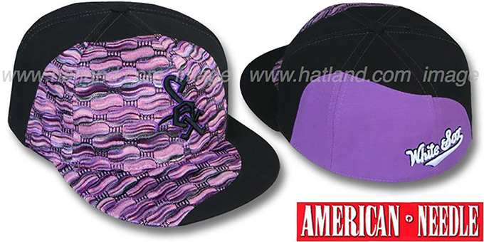 White Sox 'SWEATER SWIRL' Purple Hat by American Needle : pictured without stickers that these products are shipped with