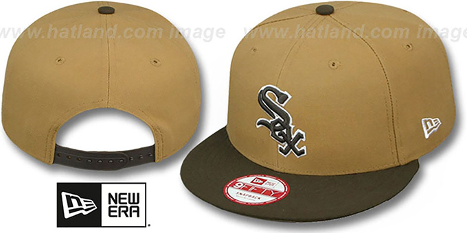 White Sox 'TEAM-BASIC SNAPBACK' Wheat-Brown Hat by New Era : pictured without stickers that these products are shipped with