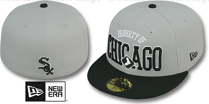 White Sox 'TEAM-PRIDE' Grey-Black Fitted Hat by New Era : pictured without stickers that these products are shipped with