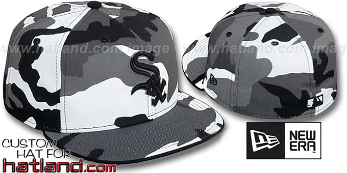 White Sox 'URBAN CAMO' Fitted Hat by New Era : pictured without stickers that these products are shipped with
