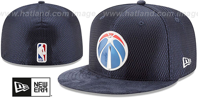 separation shoes 9d9aa f2b4b Wizards  2017 ONCOURT DRAFT  Navy Fitted Hat by New Era