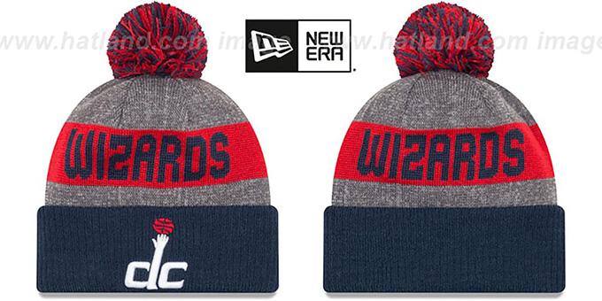 Washington Wizards ARENA SPORT Navy-Red Knit Beanie Hat ab7c4c9a657