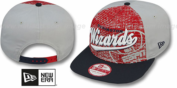Wizards 'ESPN BRICK A-FRAME SNAPBACK' Hat by New Era : pictured without stickers that these products are shipped with