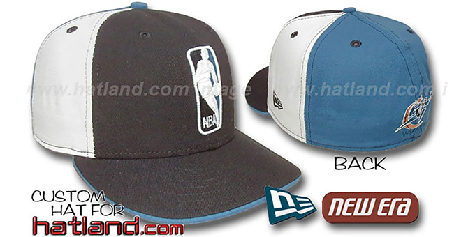 Wizards 'LOGOMAN' Black-White-Blue Fitted Hat by New Era : pictured without stickers that these products are shipped with