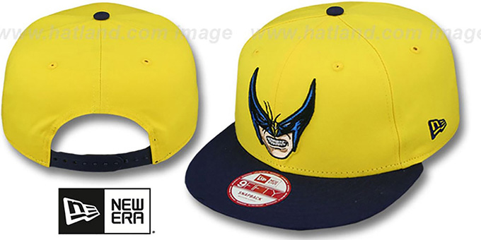 Wolverine 'CABESA-MUTANT SNAPBACK' Adjustable Hat by New Era : pictured without stickers that these products are shipped with