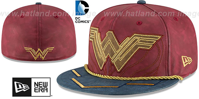 9da68c16490 DC Wonder Woman CHARACTER PREMIUM Fitted Hat by New Era