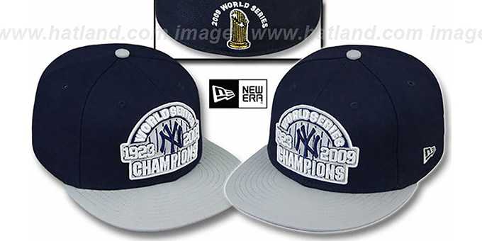 Yankees 1923-2009 'WS CHAMPIONS' Hat by New Era : pictured without stickers that these products are shipped with