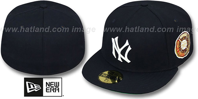 Yankees 1928 'WORLD SERIES CHAMPS' GAME Hat by New Era : pictured without stickers that these products are shipped with