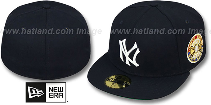 Yankees 1936 'WORLD SERIES CHAMPS' GAME Hat by New Era : pictured without stickers that these products are shipped with