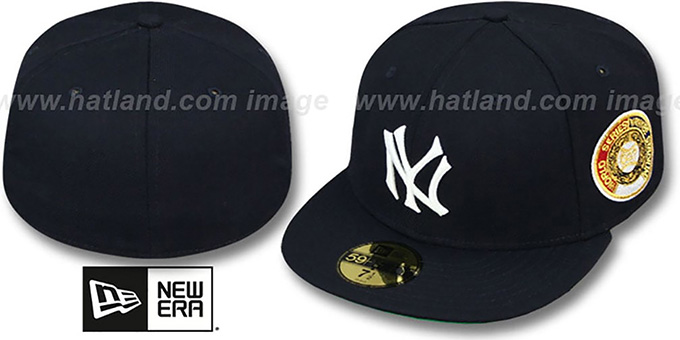 Yankees 1937 'WORLD SERIES CHAMPS' GAME Hat by New Era : pictured without stickers that these products are shipped with