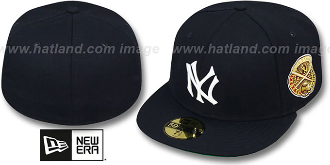 Yankees 1938 'WORLD SERIES CHAMPS' GAME Hat by New Era : pictured without stickers that these products are shipped with