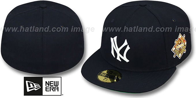 Yankees 1941 'WORLD SERIES CHAMPS' GAME Hat by New Era : pictured without stickers that these products are shipped with