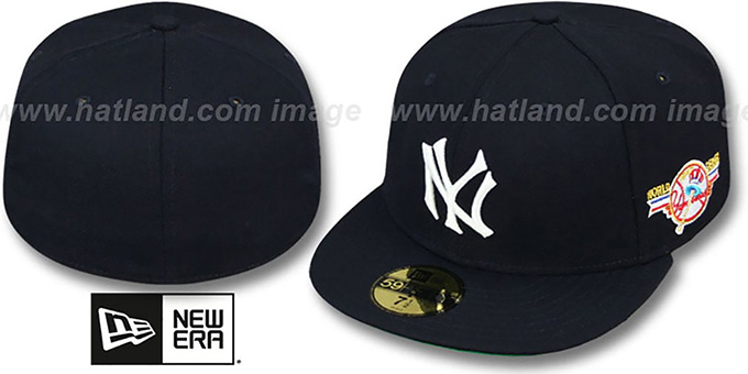 Yankees 1947 'WORLD SERIES CHAMPS' GAME Hat by New Era : pictured without stickers that these products are shipped with