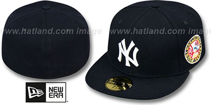 Yankees 1949 'WORLD SERIES CHAMPS' GAME Hat by New Era : pictured without stickers that these products are shipped with