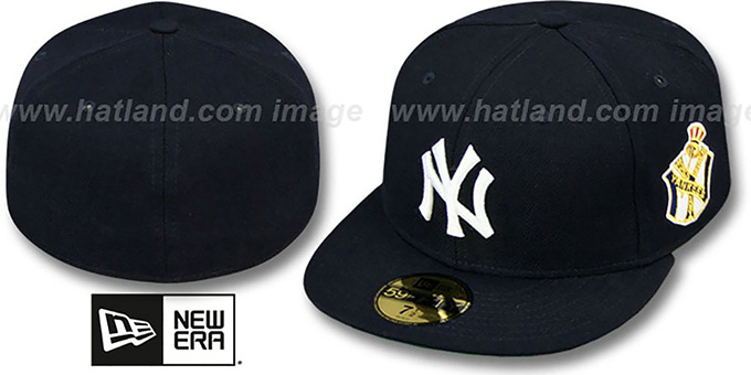 Yankees 1951 'WORLD SERIES CHAMPS' GAME Hat by New Era : pictured without stickers that these products are shipped with