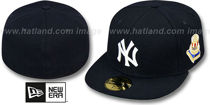 Yankees 1956 'WORLD SERIES CHAMPS' GAME Hat by New Era : pictured without stickers that these products are shipped with