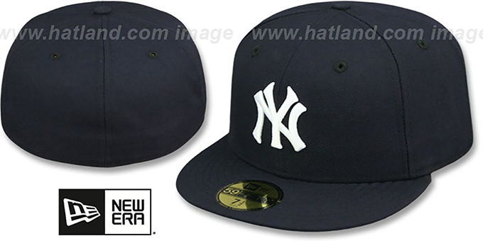 Yankees '1958 COOPERSTOWN' Fitted Hat by New Era : pictured without stickers that these products are shipped with