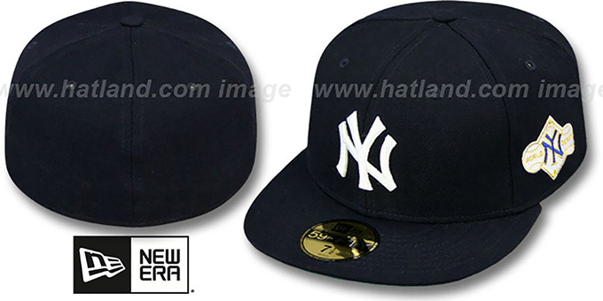 Yankees 1958 'WORLD SERIES CHAMPS' GAME Hat by New Era : pictured without stickers that these products are shipped with