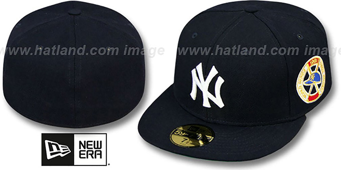 Yankees 1961 'WORLD SERIES CHAMPS' GAME Hat by New Era : pictured without stickers that these products are shipped with