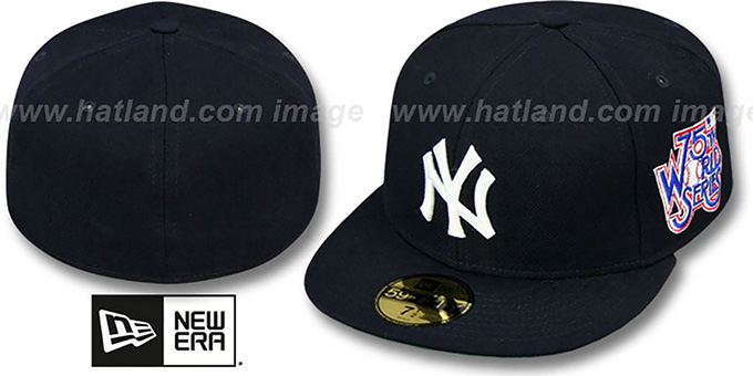 Yankees 1978 'WORLD SERIES CHAMPS' GAME Hat by New Era : pictured without stickers that these products are shipped with