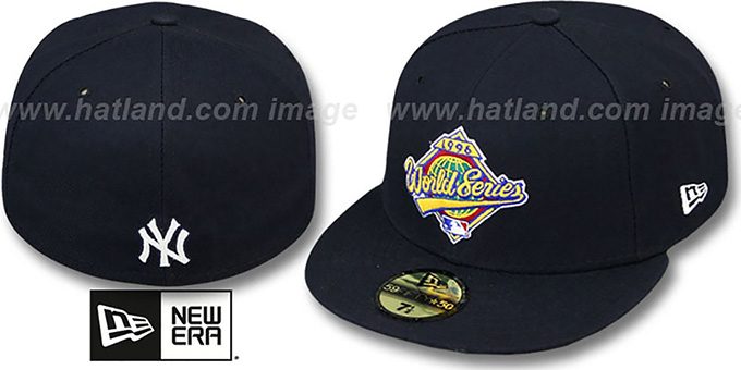 Yankees 1996 'CHAMPIONS PATCH' Navy Fitted Hat by New Era : pictured without stickers that these products are shipped with