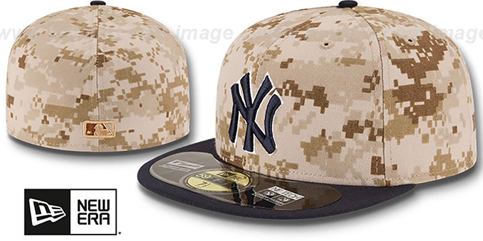 Yankees '2014 STARS N STRIPES' Fitted Hat by New Era : pictured without stickers that these products are shipped with