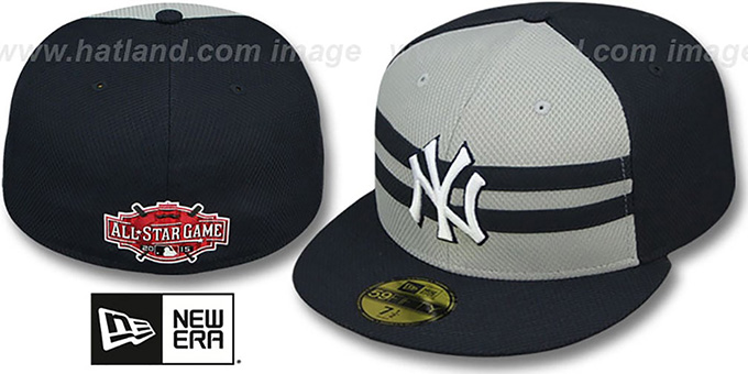 Yankees '2015 ALL-STAR' Fitted Hat by New Era : pictured without stickers that these products are shipped with