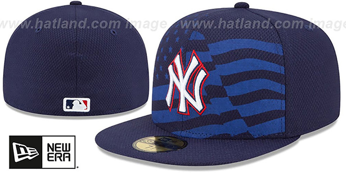 Yankees '2015 JULY 4TH STARS N STRIPES' Hat by New Era : pictured without stickers that these products are shipped with