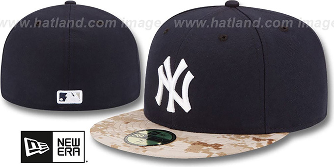 Yankees '2015 STARS N STRIPES' Fitted Hat by New Era : pictured without stickers that these products are shipped with