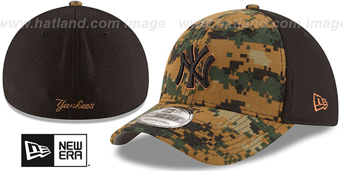 Yankees 2016 MEMORIAL DAY 'STARS N STRIPES FLEX' Hat by New Era : pictured without stickers that these products are shipped with