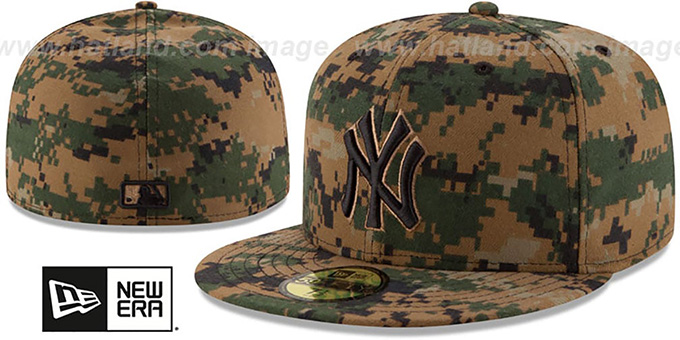 Yankees 2016 MEMORIAL DAY 'STARS N STRIPES' Hat by New Era : pictured without stickers that these products are shipped with