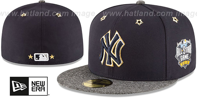 Yankees '2016 MLB ALL-STAR GAME' Fitted Hat by New Era : pictured without stickers that these products are shipped with