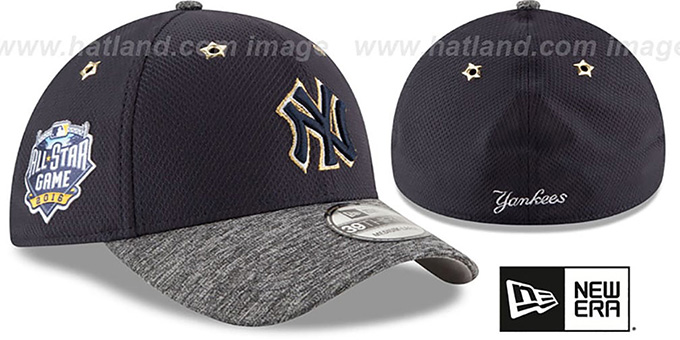 Yankees '2016 MLB ALL-STAR GAME FLEX' Hat by New Era : pictured without stickers that these products are shipped with