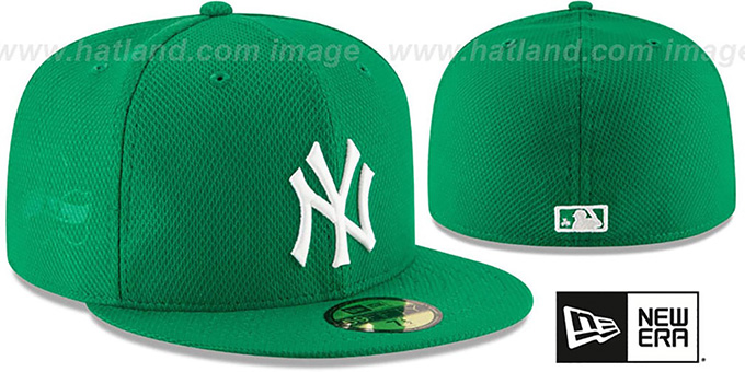 Yankees '2016 ST PATRICKS DAY' Hat by New Era : pictured without stickers that these products are shipped with