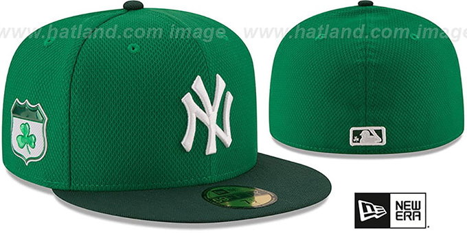 Yankees '2017 ST PATRICKS DAY' Hat by New Era : pictured without stickers that these products are shipped with