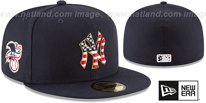 New York Yankees 2018 JULY 4TH STARS N STRIPES Navy Fitted Hat 207716269e5